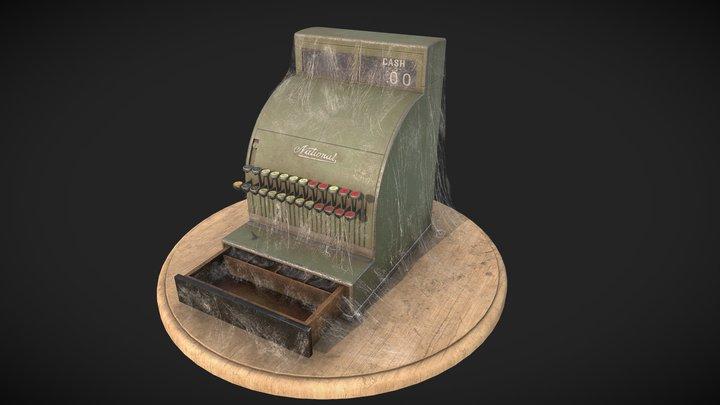 1946 Vintage National Cash Register 3D Model