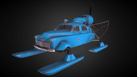 Sever-2 snowmobile 3D Model