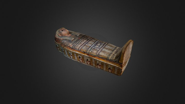 Coffin Ensemble of Taditjaina 3D Model