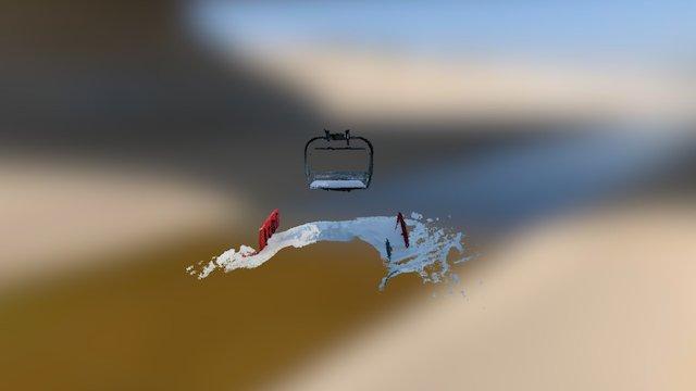 Ski Chairlift 3D Model