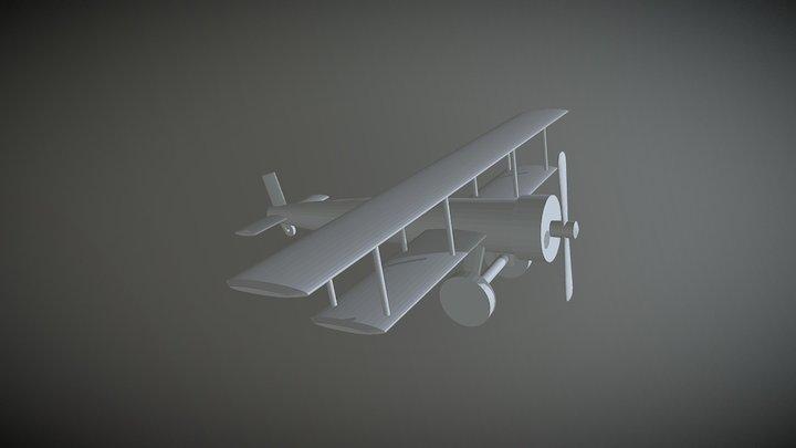 Plane Low Poly simple Blendercourse Udemy 3D Model