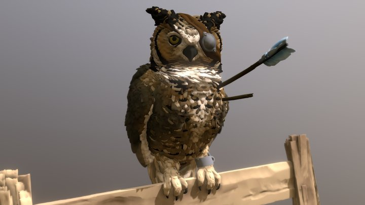 Wounded Owl 3D Model