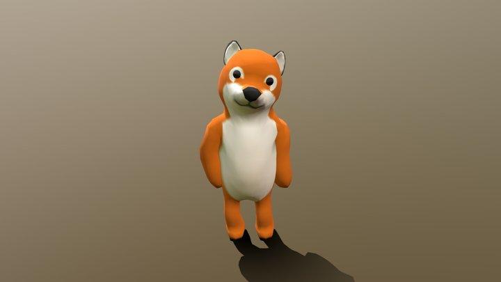 Fox plush (Benny) 3D Model