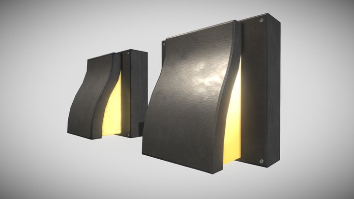 Outdoor Wall Light - Boston (Low Poly) 3D Model
