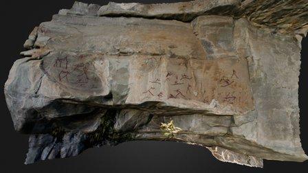 Rock art in South Africa 3D Model