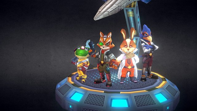 Star Fox 3D Model