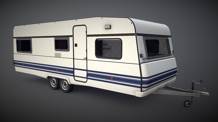 PBR Camper Trailer 3D Model