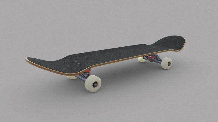 Classic skateboard 3D Model