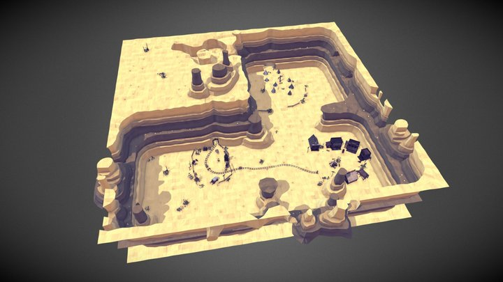 Far West Environment Set 3D Model