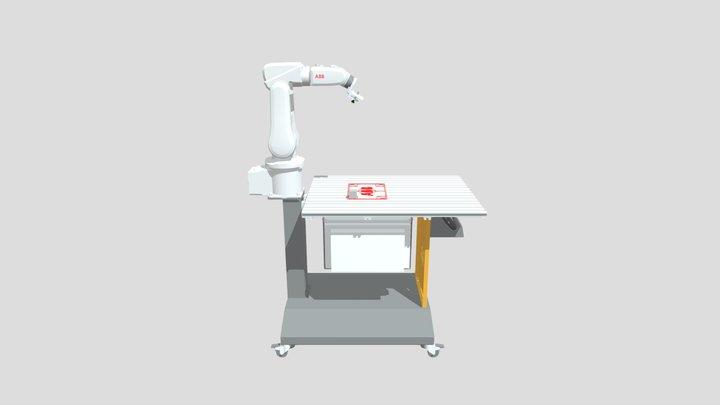 Simulación PROG 12 RobotStudio ABB, Paletizado. 3D Model