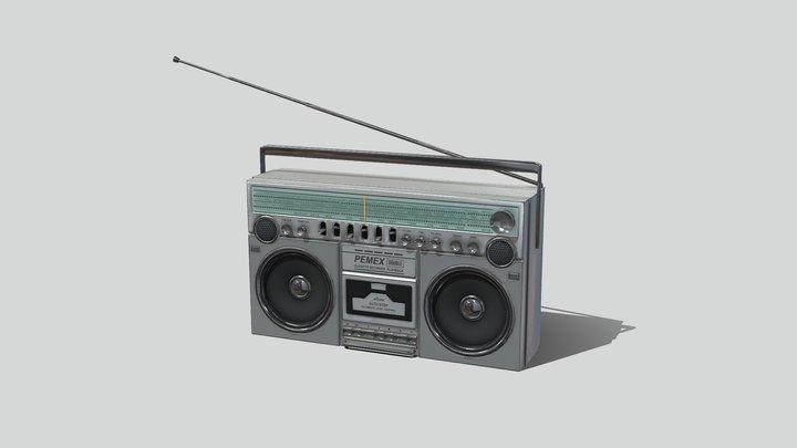 Boombox 01 - 80s Blaster 3D Model