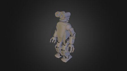 HR-OS5 Humanoid Research Robot - Jack v1.0 3D Model
