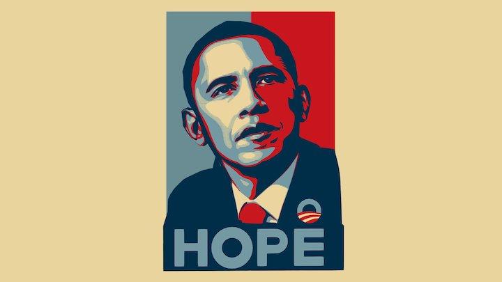 Obama Hope Poster 3D Model