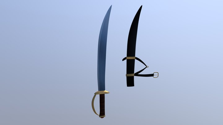Blue Feather 3D Model
