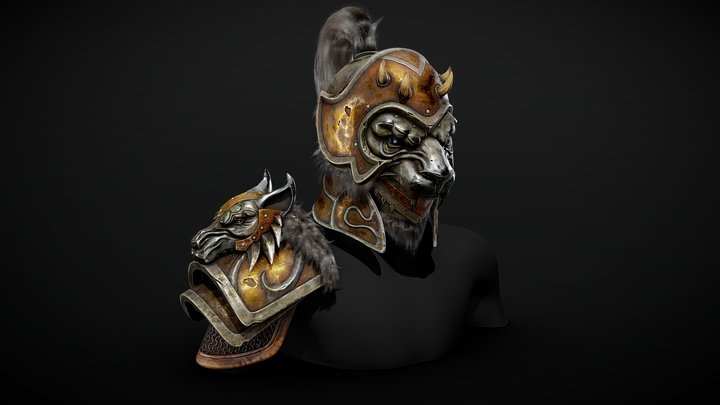 "Armor ""Undaunted monster set"" 3D Model"