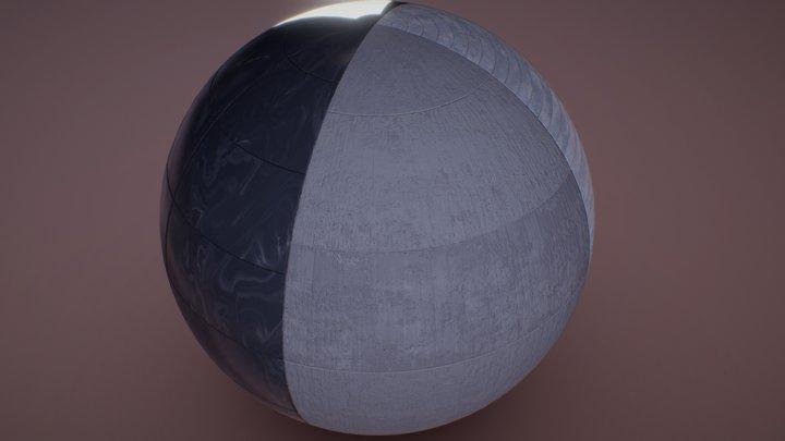 Lighting Test Material 3D Model