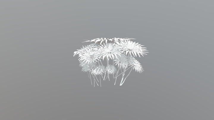 White Flowers 3D Model
