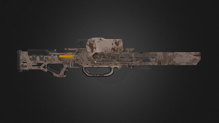 Longbow Anti-Materiel Rifle 3D Model