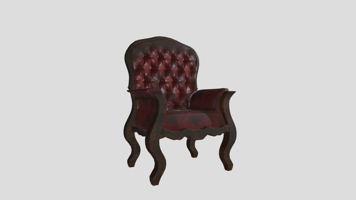 Haunted Mansion - Armchair 3D Model