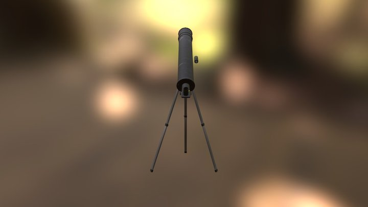 Telescope Textured 3D Model