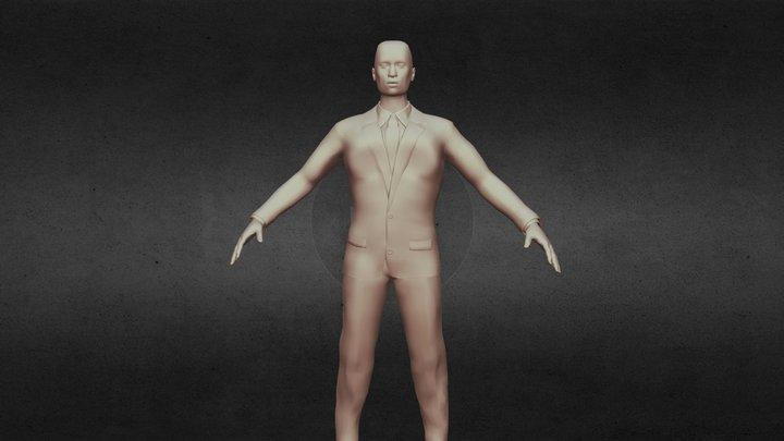Black Business Man 3D Model