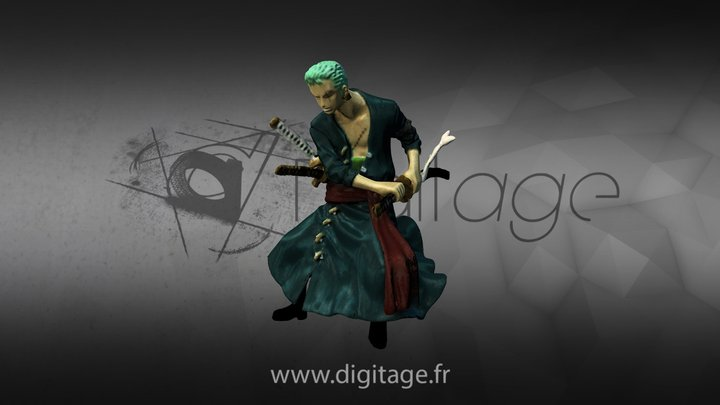 #3DST40 Zoro from One Piece 3D Model