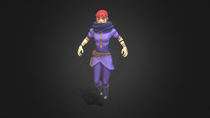 The Purple Mage 3D Model
