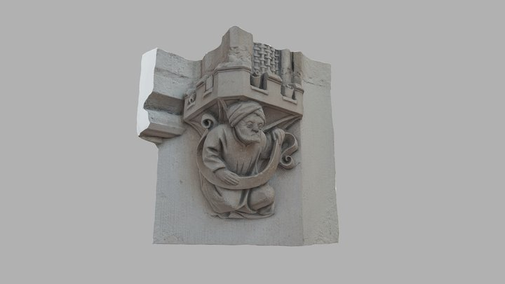 Sculpture : Palais de Jacques Coeur, Bourges 3D Model