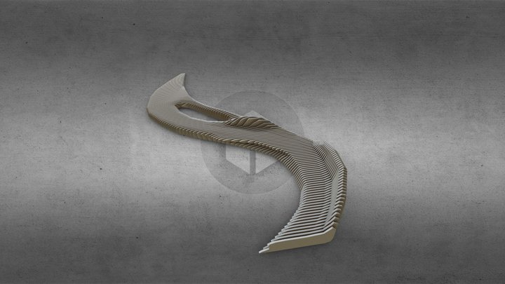 Org bench 3D Model