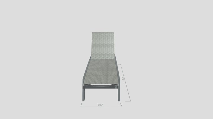 Biscayne Sun Lounger 3D Model