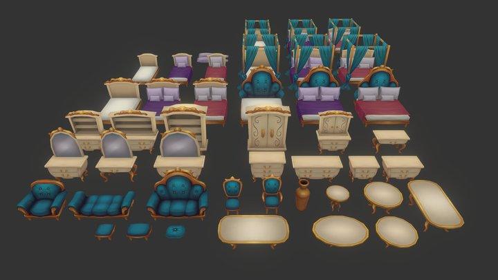 Furniture pack - 02 3D Model