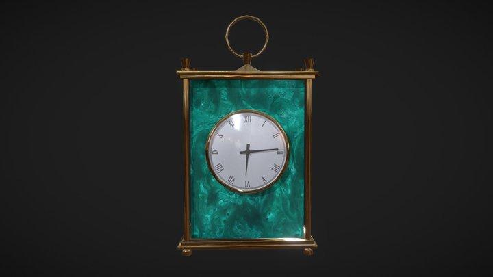 Mantel clock lowpoly 3D Model