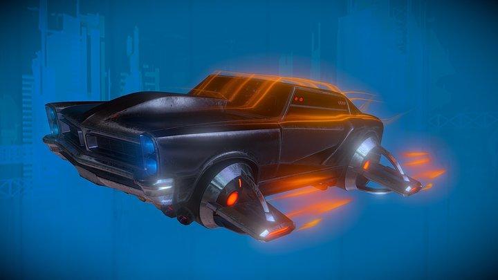 Hover Car - Cyberpunk 3D Model