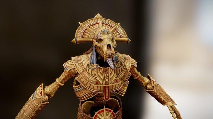 WAR - Golden Guardian 3D Model