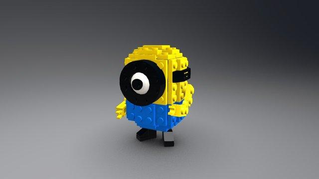 Lego Minion 3D Model