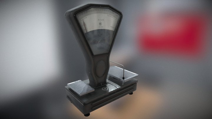 Weight Mechanical Old Soviet  USSR 3D Model