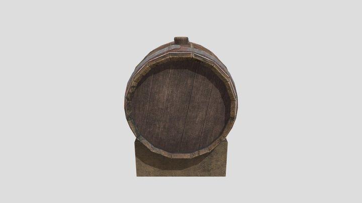 Old beer barrel 3D Model