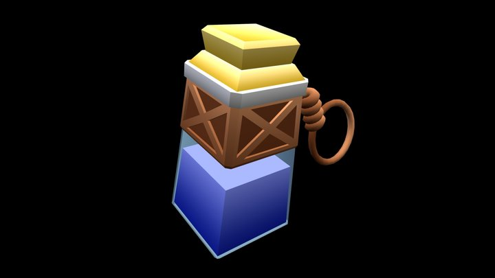 Potion Of Mana (Warcraft III Fanart) (Low Poly) 3D Model