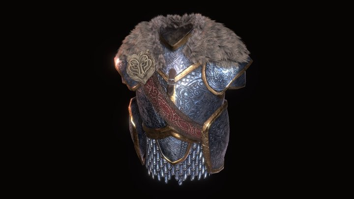 Mastercrafted Mithril Cuirass - Item Model 3D Model