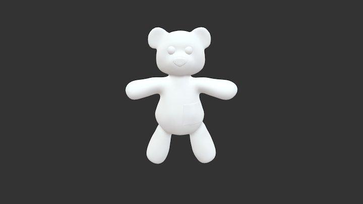 Low Poly Teddy Bear 3D Model