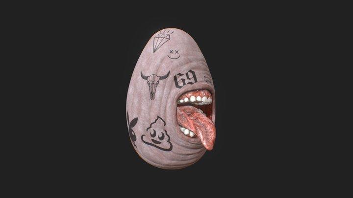 Modern Human Flesh Egg 3D Model
