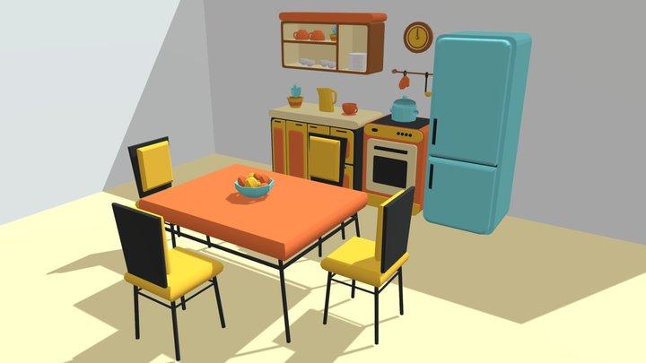 Kitchen Lowpoly (update)  #tarefadasemana 3D Model