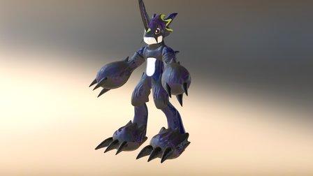 Dark Flamedramon 3D Model