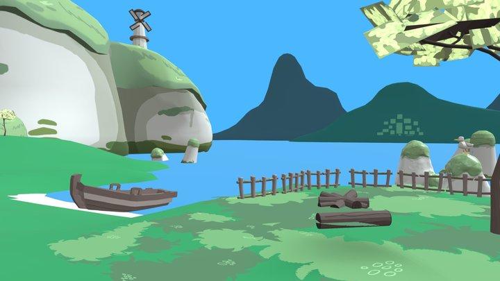 Seagull Island 3D Model