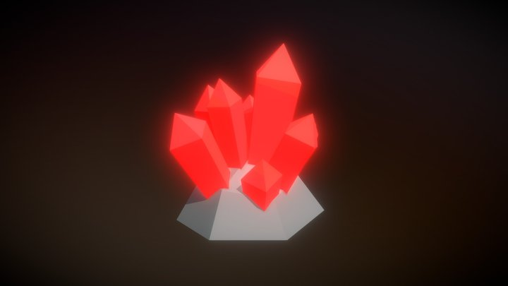 Low Poly Crystal 3D Model
