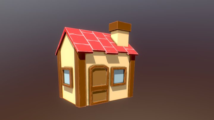 Low Poly Cabin 3D Model