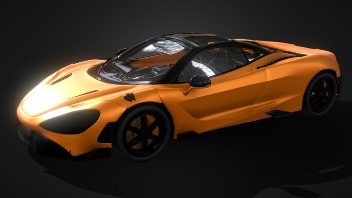 Mc Laren 765LT - Videogame ready 3D Model