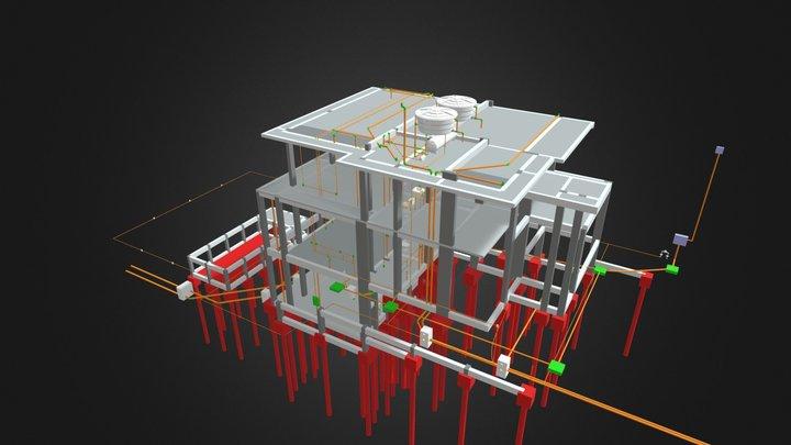 Sobrado - 312,8 m² 3D Model