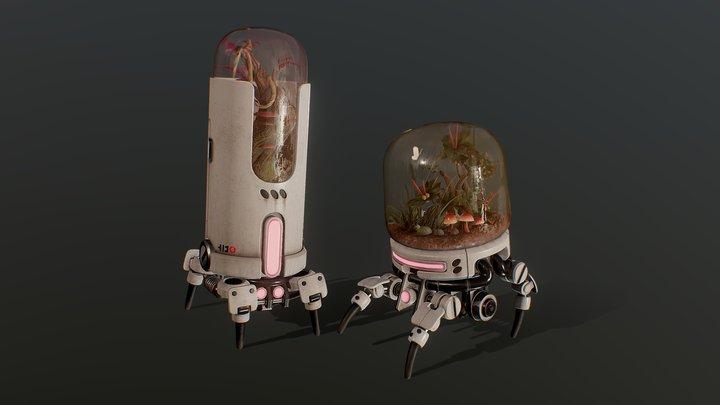 Terrarium Bots (@nerdscribbles) 3D Model