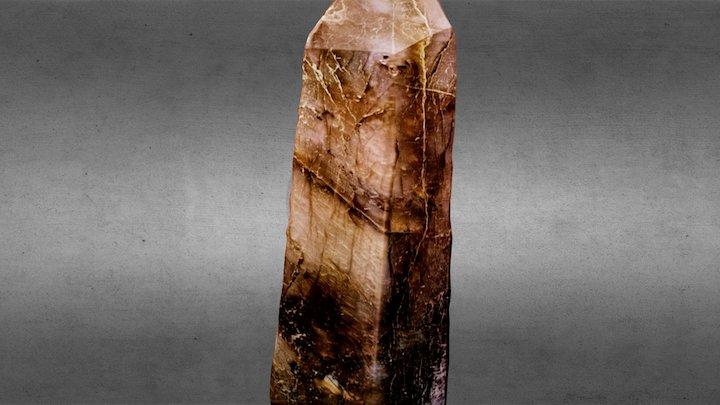 Labradorite crystal 3D Model